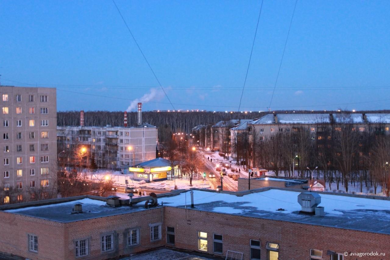 ул. Чкалова и аэропорт с олимпийского дома